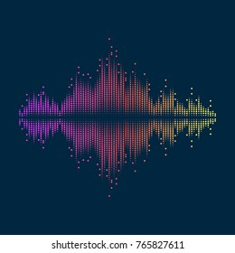 Abstract background with elements for dynamic design. Vector illustration with equalizer