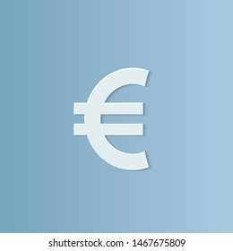 abstract background for Euro, paper cut, vector illustrations