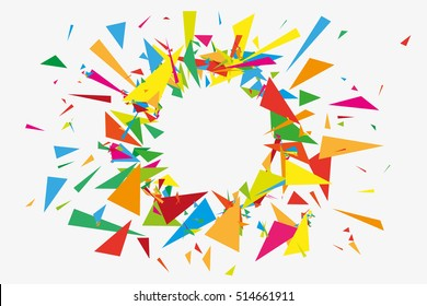 Abstract background explosion. Triangles banner.