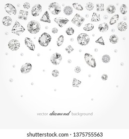 Abstract background with falling diamonds for graphic design