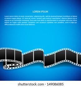 Abstract background with film reel. EPS10 vector