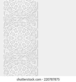 Abstract background with floral pattern. Vector illustration