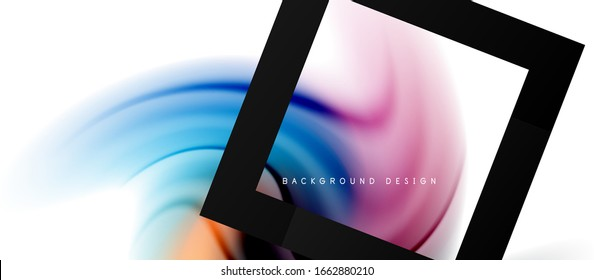 Abstract background, fluid mixing gradient liquid style colors composition. Vector Illustration For Wallpaper, Banner, Background, Card, Book Illustration, landing page