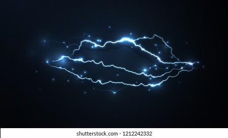 Abstract background in the form of lightning. Powerful charge causing a lot of sparks. Nature force. Text space