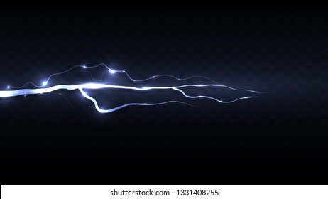 Abstract background in the form of lightning. Powerful charge causing a lot of sparks. Nature force - Vector