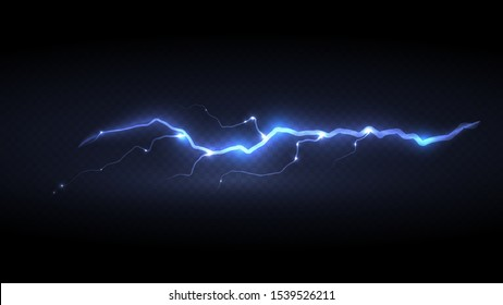 Abstract background in the form of lightning. Powerful charge causing a lot of sparks. Nature force