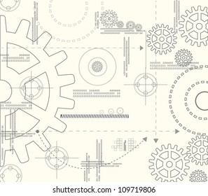 Abstract background gear. Eps10 vector.