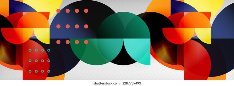 Abstract background, geometric circle composition, vector illustration