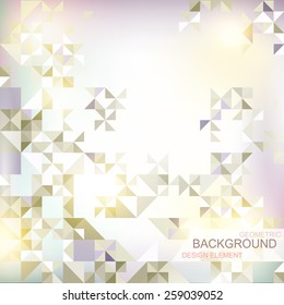 abstract background with geometric elements and geometric shapes