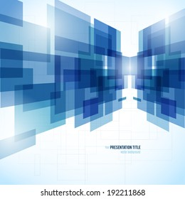 Abstract background with geometric elements. Vector illustration for your business presentation. Design template