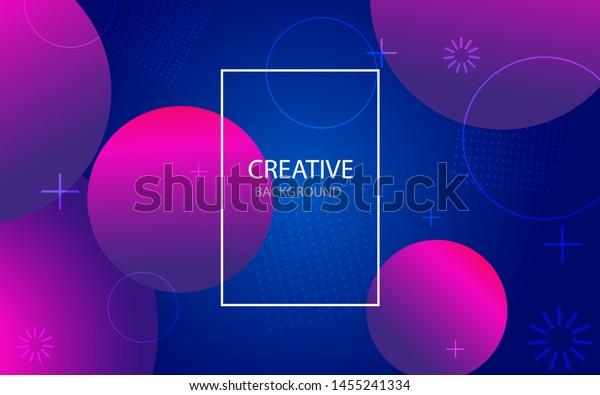 幾何学的なグラデーションの円を持つ抽象的な背景。色の丸、ドットで抽象的なパターンをデザインします。circes.vectorイラストと抽象的なウェブサイトランディングページ