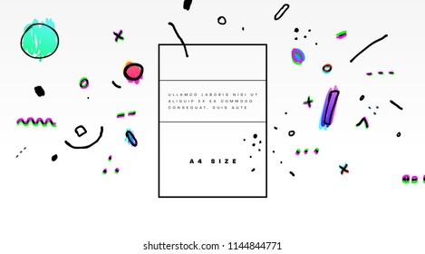 Abstract background with geometric hipster hand drawn elements. Eps10 vector illustration