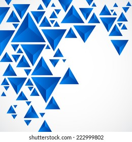 Abstract background with geometric piramid