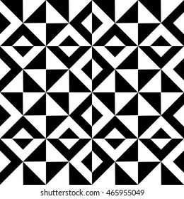 Abstract background of geometric shapes. Black and white pattern of triangles