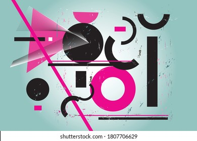 Abstract background with geometric shapes. Fashionable modern background for a website or interior design.