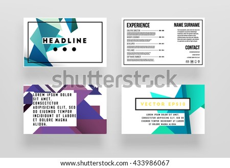 abstract background geometric shapes frames presentation stock