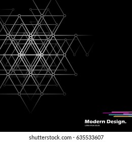 Abstract background with geometric shapes. Monochrome layout.