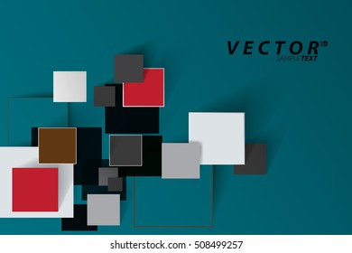 Abstract background of geometric shapes. mosaic of squares