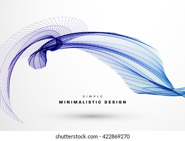 Abstract Background. Geometric Shapes for Techno Design. Vector Wave for Presentation, Annual Reports, Brochures, Leaflets, Posters, Business Cards and Documents Cover Pages Design