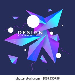 Abstract background with geometric shapes. Vector illustration in flat minimalistic style