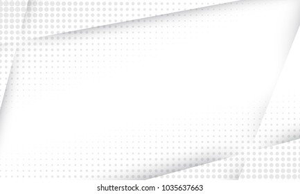 Abstract background with geometric texture. Halftone grey gradient for business presentation, banner, poster or flyer