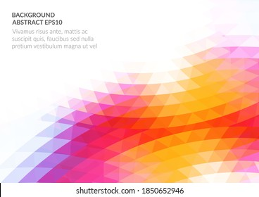 An abstract background with a geometric texture of triangles. White space for text. Stock vector illustration.