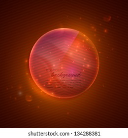 abstract background with glass transparent sphere.