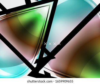 Abstract background - glossy glass bubbles, abstract sphere shapes, geometric dynamic composition with copyspace. Vector Illustration For Wallpaper, Banner, Background, Card, Book Illustration
