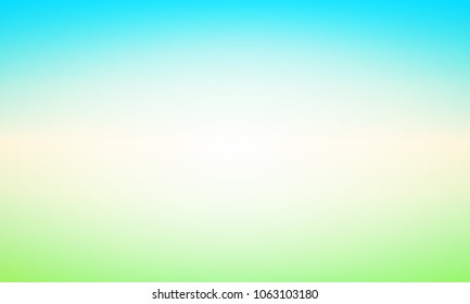 Abstract Background with Glow and Shine. Vector Illustration with Blurred Landscape of Clear Day.