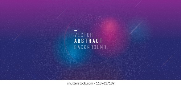 Abstract background with glowing particles. Fluid vector illustration. Circle frame. Futuristic design.