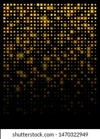 Abstract background gold square design with yellow light. Design for banner, post