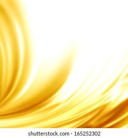 Abstract background golden silk liquid swirl frame for trendy luxury wedding invitation card menu design vector