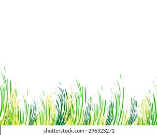 Abstract  background with grass. Vector ecological hand drown pattern. Colorful linear background. Can be used for ecological  label. Eco friendly texture