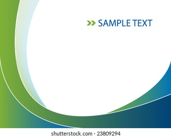 abstract background in green and blue - vector image