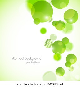 Abstract background with green circles