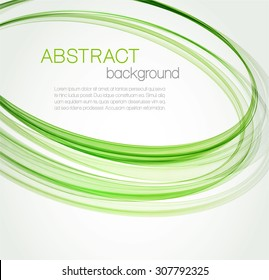 Abstract background with green ellipses