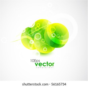 Abstract background with green icon