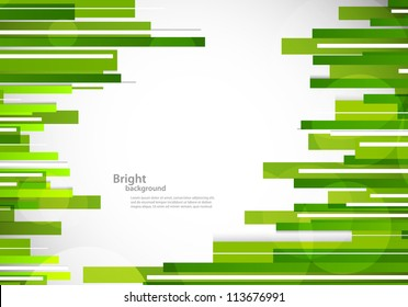 Abstract background with green lines. Colorful illustration