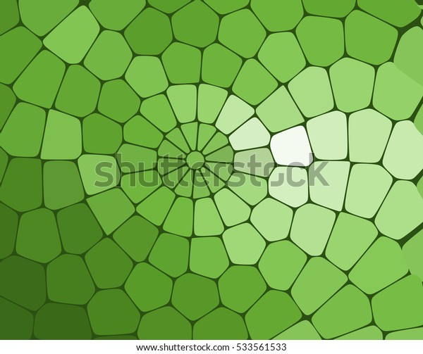 abstract background, green mosaic