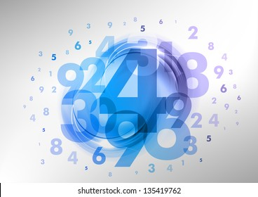 abstract background with green numbers