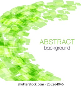 Abstract background with green rectangles