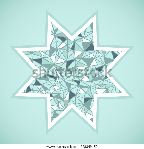 Abstract Background Green Star Christmas Theme Stock Vector