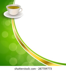 Abstract background green tea gold tape illustration vector