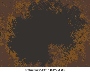 Abstract background of grunge metal sheet.Steel wall mats sprayed red rust.vector illustrations.