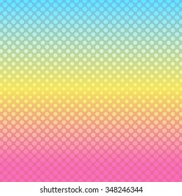Abstract background with halftone effect rainbow blurred background