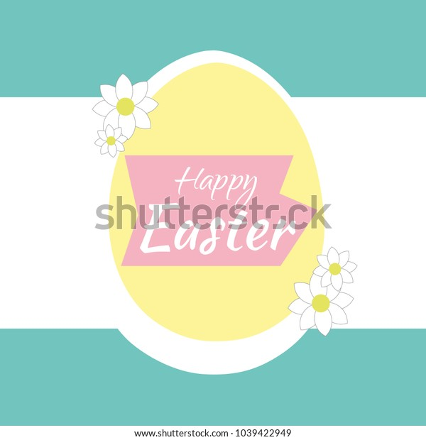 Abstract background with a happy easter egg. It can be used as a poster, banner, template, postcard, label. Vector illustration