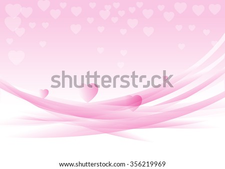 Abstract Background Happy Valentines Day Greeting Stock Vector