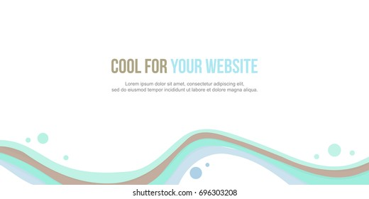Abstract background header website collection design