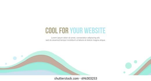 Abstract background header website design wave