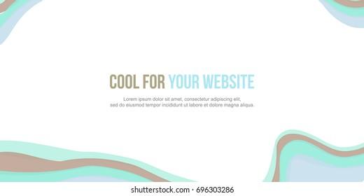 Abstract background header website design modern